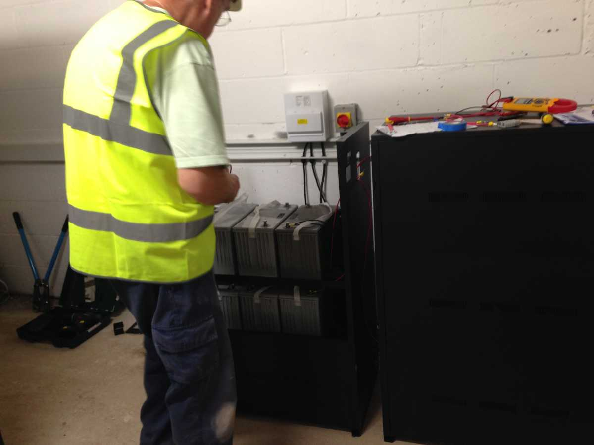 Battery cabinet install b16 cabinet