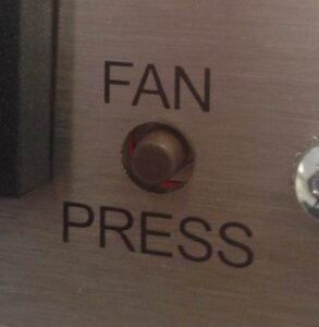 Fan press button fan speed control