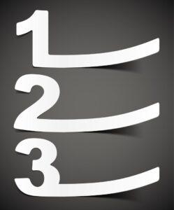 1,2,3 list
