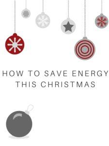 How to save energy this Christmas
