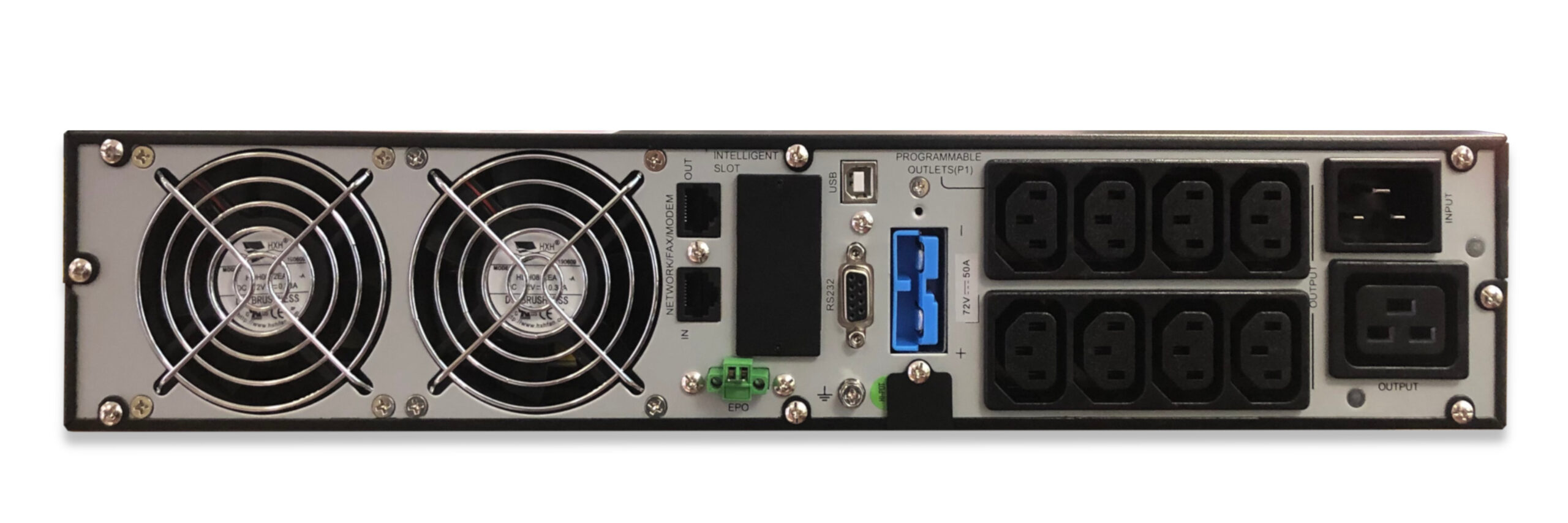 VFI3000RT+ Online UPS System Rear